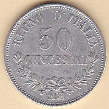 8750442990 50 Centesimi 1867 M Valore - Numismatica Felsinea - monete antiche e ...