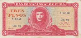 3 Pesos 1989 pieghe verticali e ...
