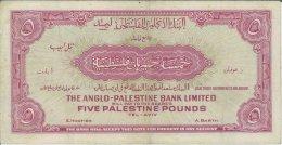 Palestina - 5 pounds 1948-1951 - ...