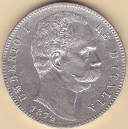 Umberto I (1878-1900) - 5 Lire - ...